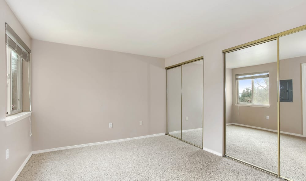 Spacious closets at apartments in Tigard, Oregon