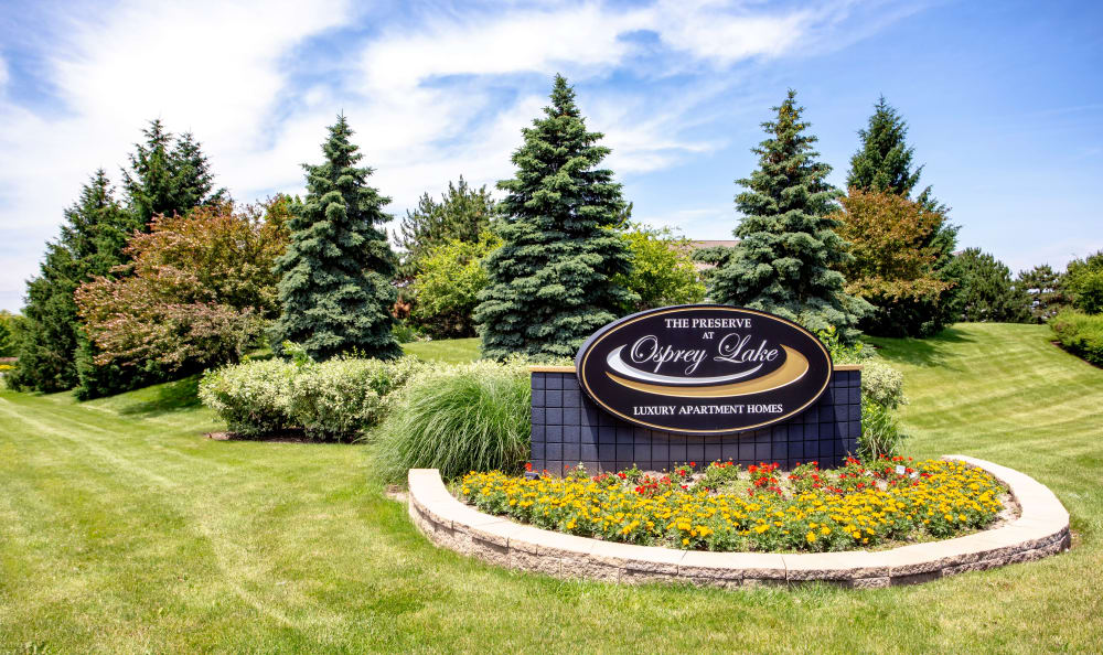 Beautiful apartments at The Preserve at Osprey Lake in Gurnee, Illinois