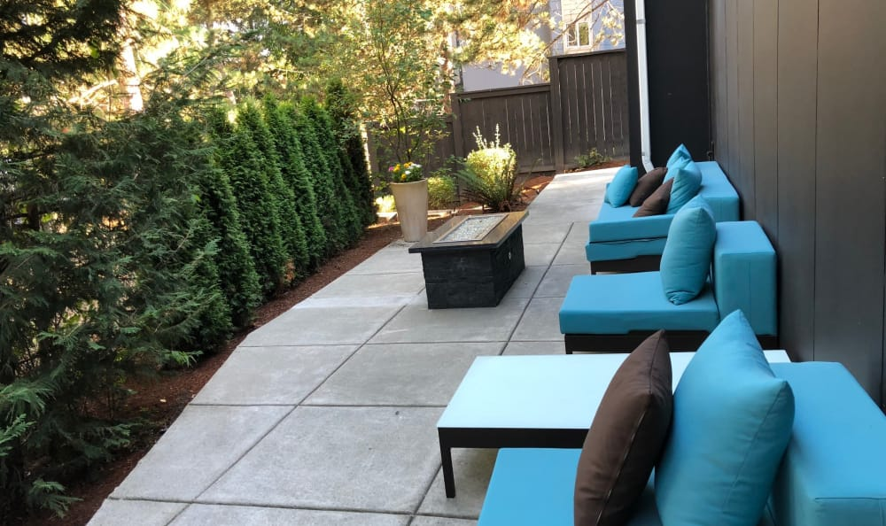 Outdoor Lounge at Karbon Apartments in Newcastle
