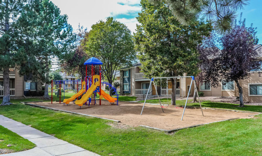 Children's playground at City Center Station Apartments in Aurora, Colorado
