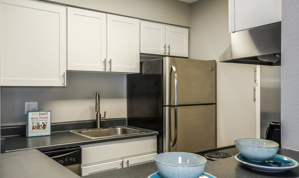 Breakfast bar at City Center Station Apartments in Aurora, Colorado