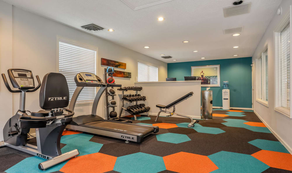 State-of-the-art fitness center at City Center Station Apartments in Aurora, Colorado