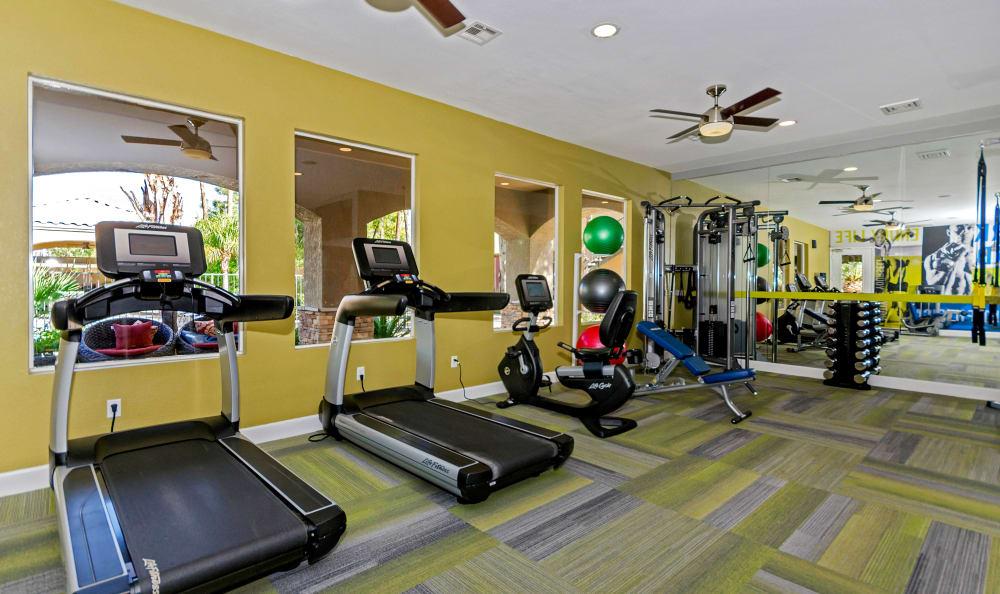 Fitness center at The Boulevard in Phoenix, Arizona