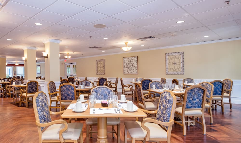 Dining Area at Grand Villa of Deerfield Beach in Deerfield Beach, Florida