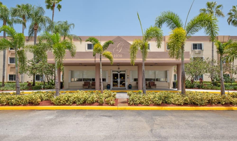 Front Entrance at Grand Villa of Deerfield Beach in Deerfield Beach, Florida