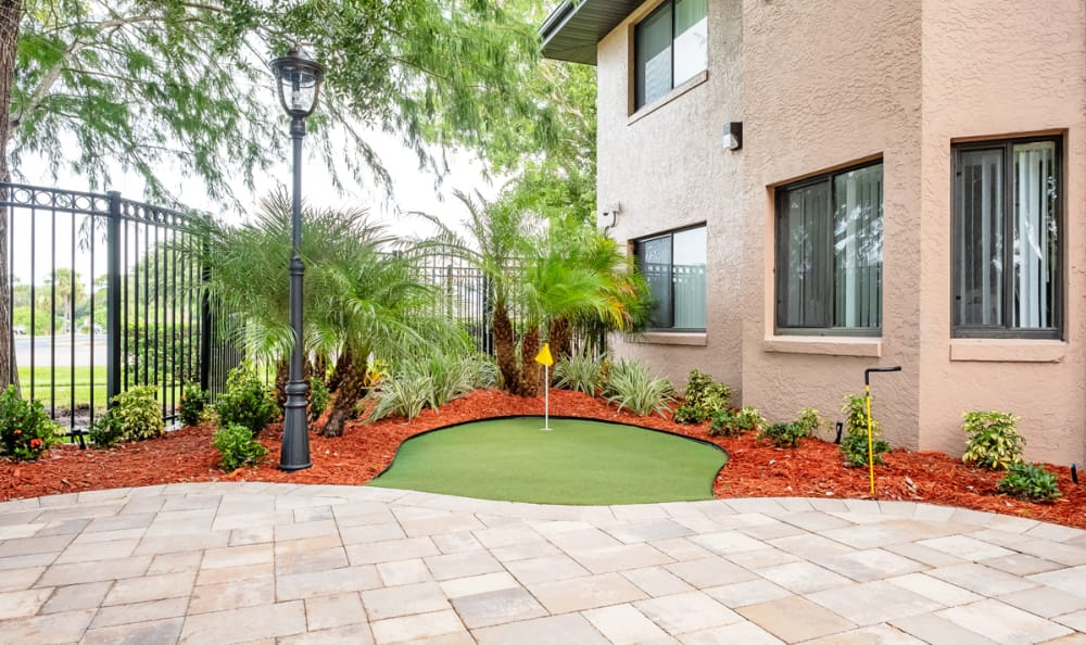 Putting Green at our Senior Living Facility in Englewood, Florida