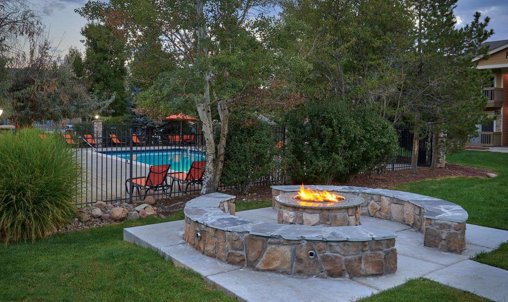 fire-pit lounge