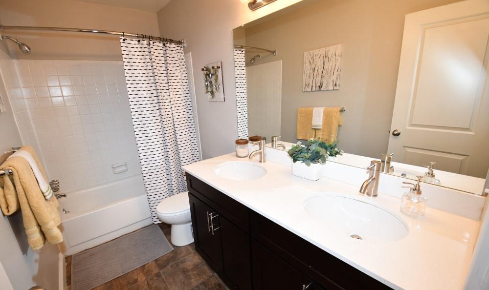 Bathroom at Spice Tree Apartments in Ann Arbor, MI