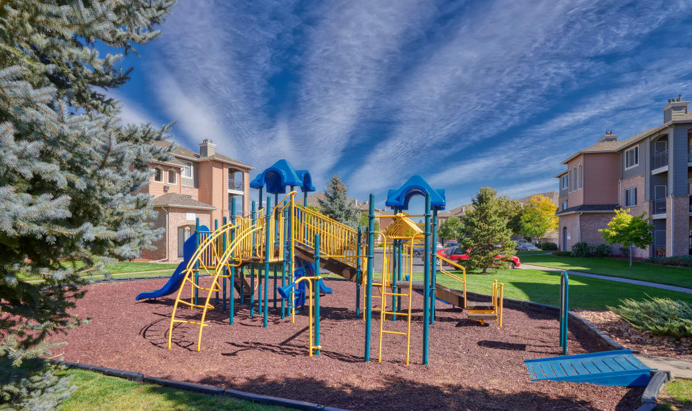 playground area at Hawthorne Hill Apartments in Thornton