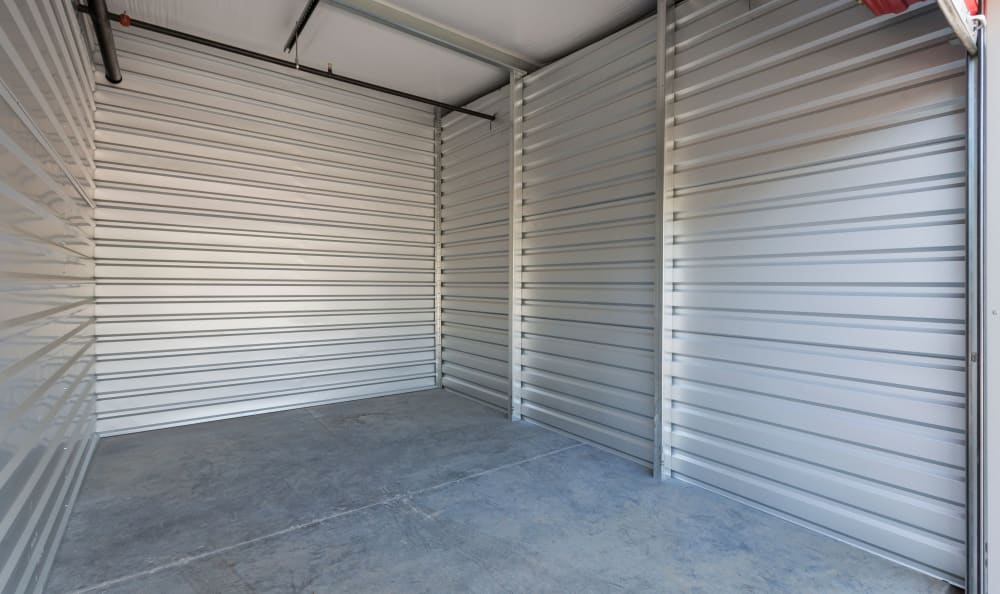 Interior of storage unit at Ace Affordable Storage in Sherman, Texas