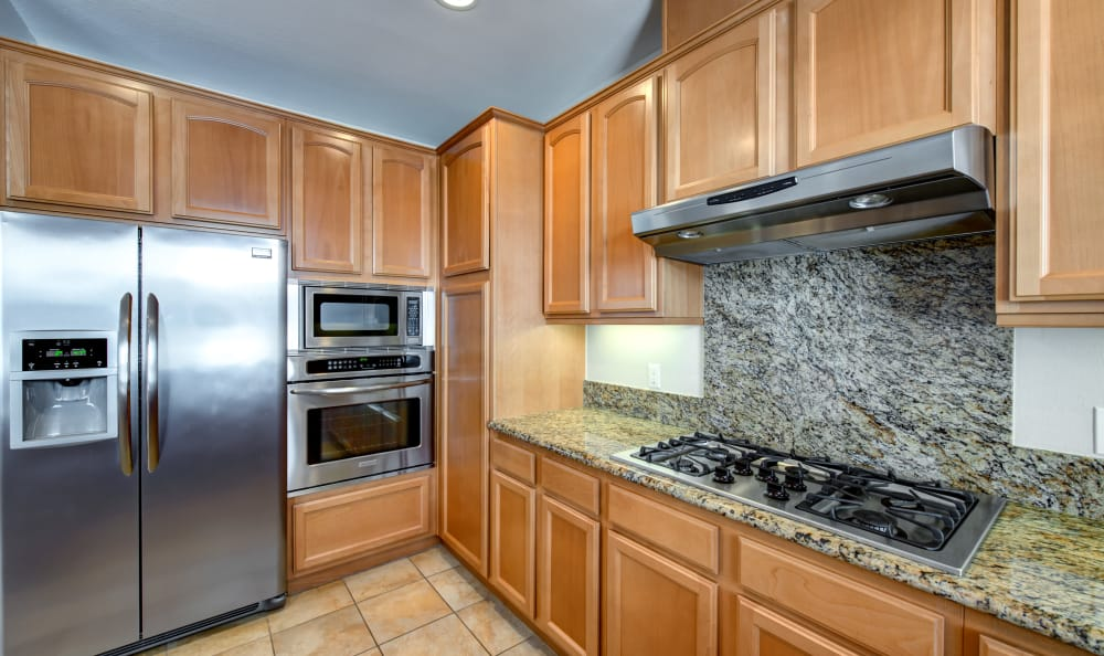 kitchen at IMT Rancho Serrano Townhomes in Thousand Oaks, CA