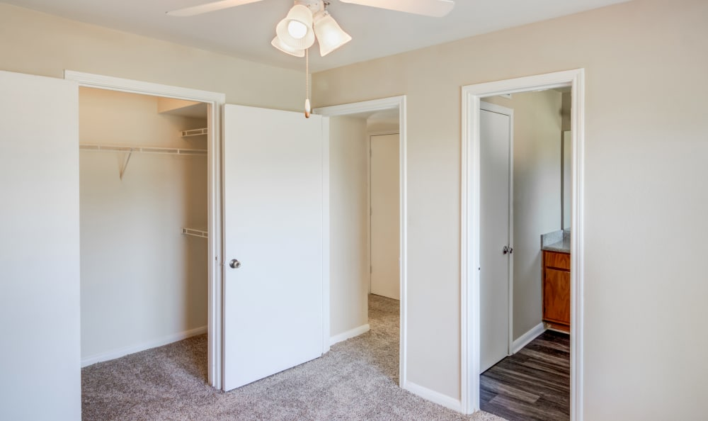 Plenty of storage in the master bedroom at Kenwood Club at the Park in Katy, TX