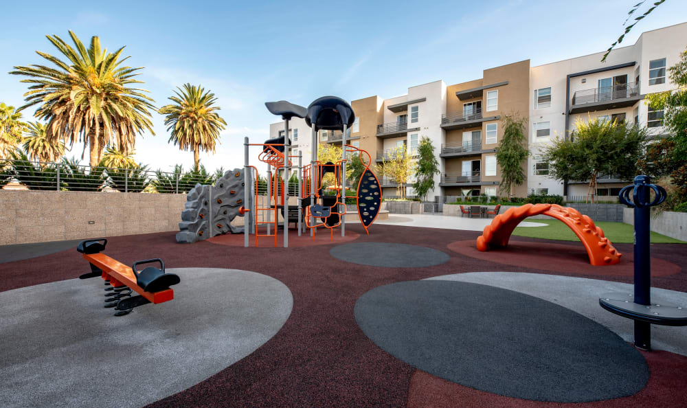 Onsite playground at IMT Sherman Circle in Van Nuys, California