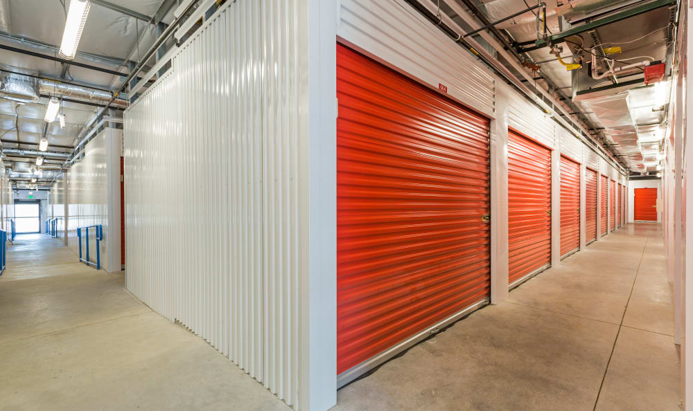 Well-lit interiors at Smart Space Self Storage - Colorado Springs in Colorado Springs, Colorado
