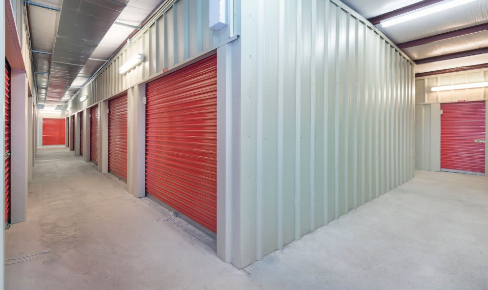 Wide hallways at Smart Space Self Storage - Colorado Springs in Colorado Springs, Colorado