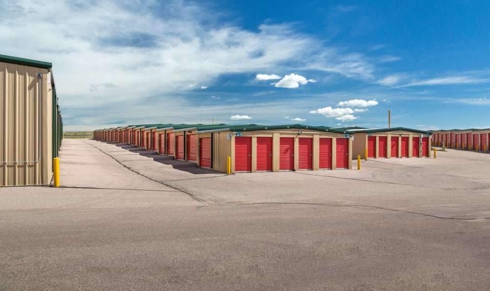 Wide driveways at Smart Space Self Storage - Stetson Hills in Colorado Springs, Colorado