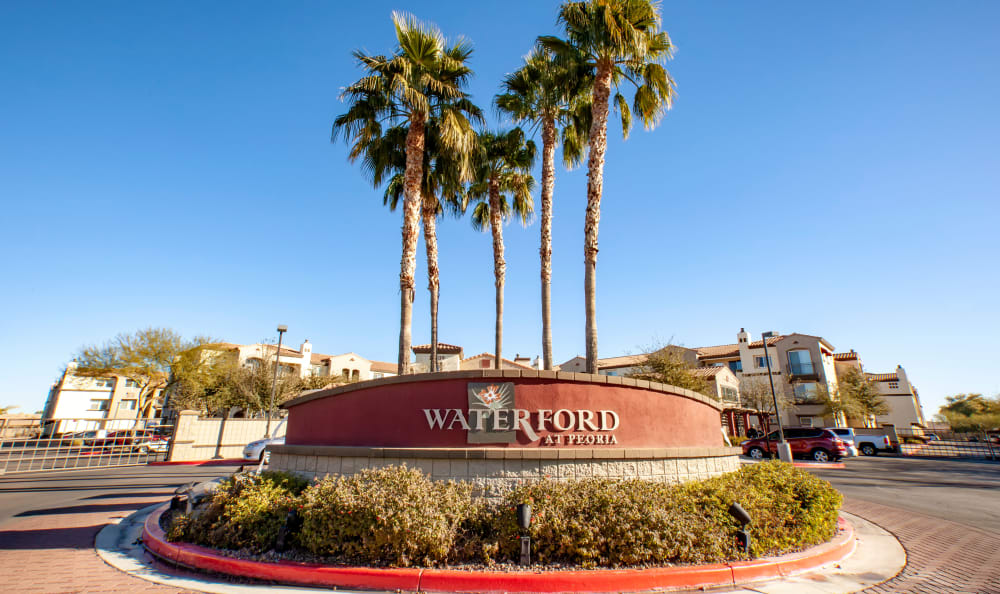 Apartments sign at Waterford at Peoria in Peoria, AZ