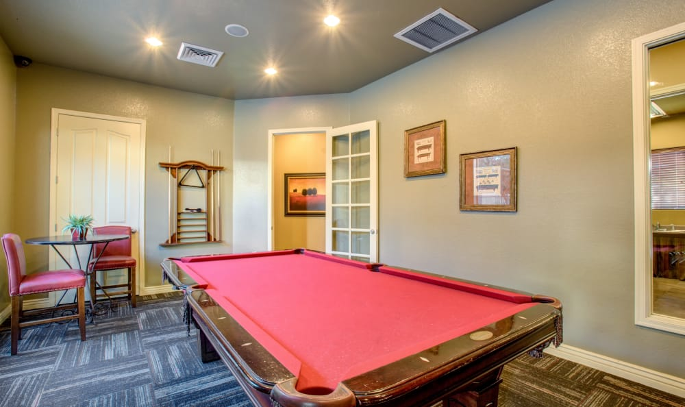Community Billiards table at Waterford at Peoria in Peoria, AZ