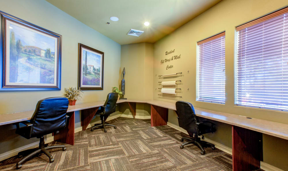 Office room in clubhouse at Waterford at Peoria in Peoria, AZ