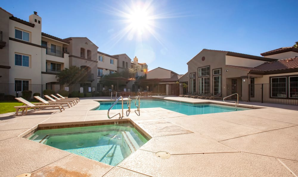 Pool Deck at Waterford at Peoria in Peoria, AZ