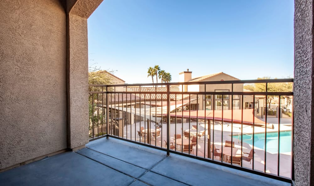 View from an apartment balcony at Waterford at Peoria in Peoria, AZ