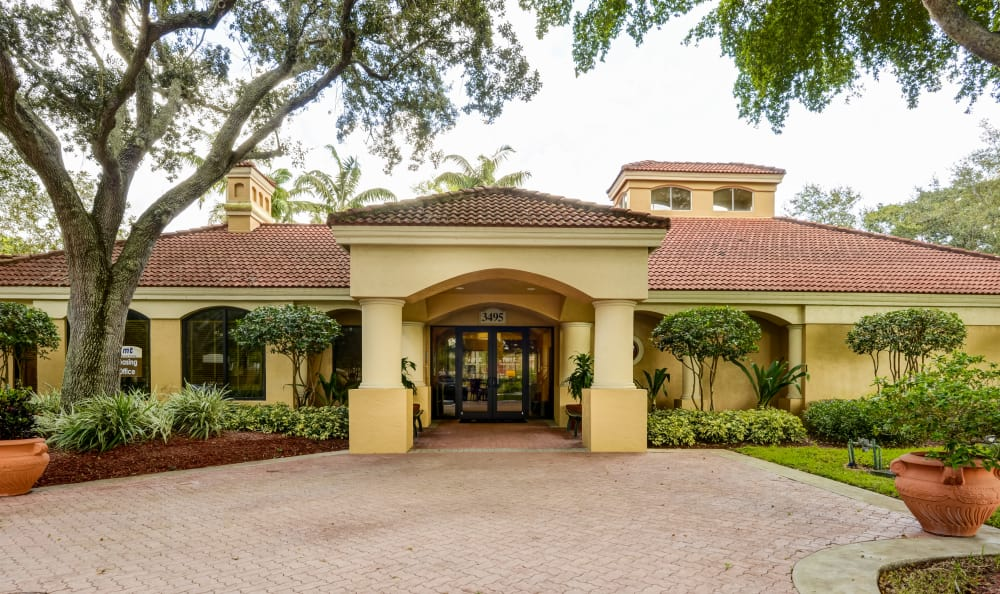 Leasing office exterior at IMT Pinebrook Pointe in Margate, Florida