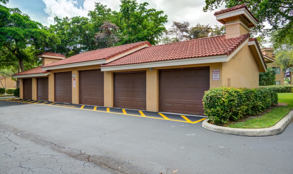 Available private garage parking at IMT Pinebrook Pointe in Margate, Florida