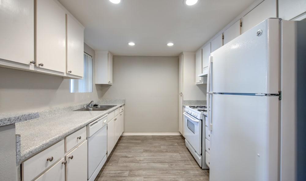 Kitchen at Cordova Park Apartment Homes in Lancaster, California