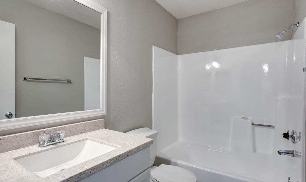 Bathroom at Cordova Park Apartment Homes in Lancaster, California