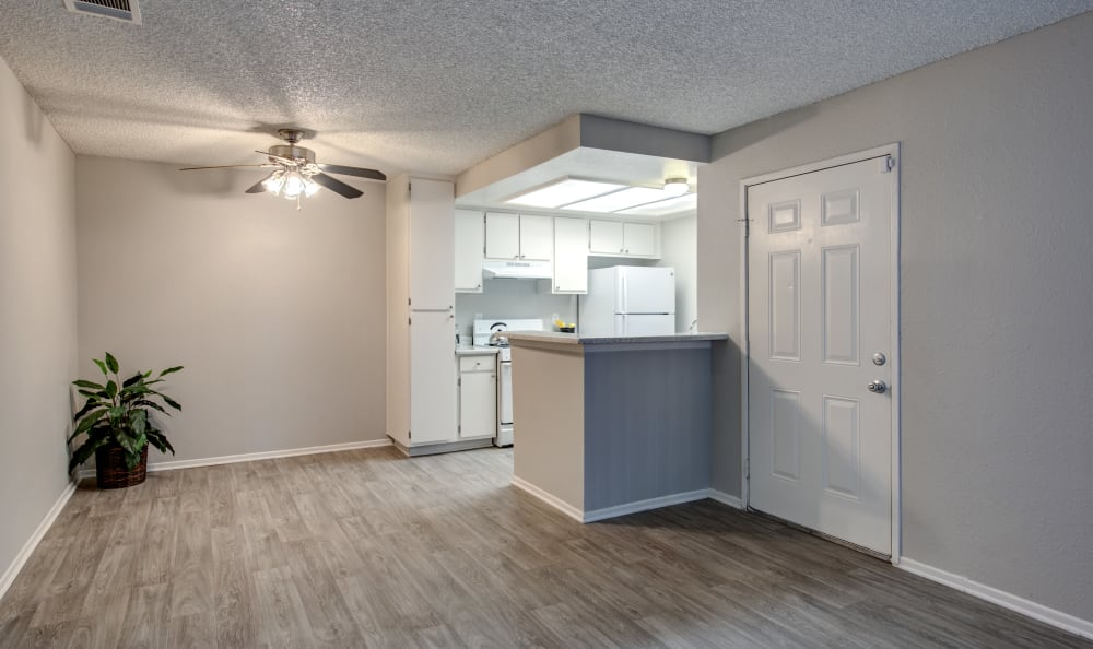 Living Room & Kitchen at Apartments in Lancaster, California