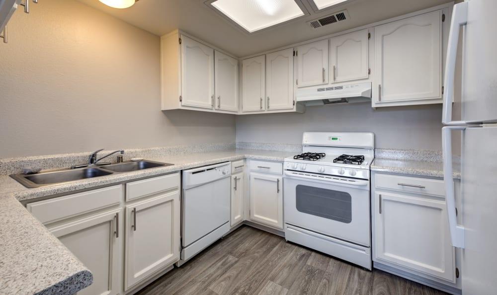 Kitchen at Cordova Park Apartment Homes in Lancaster, CA