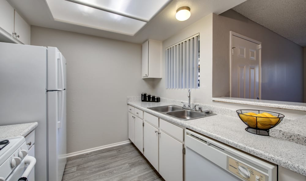 Kitchen at Apartments in Lancaster, California