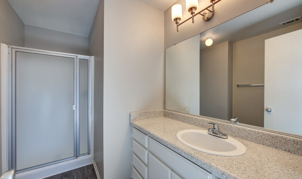 Bathroom at Cordova Park Apartment Homes in Lancaster, CA