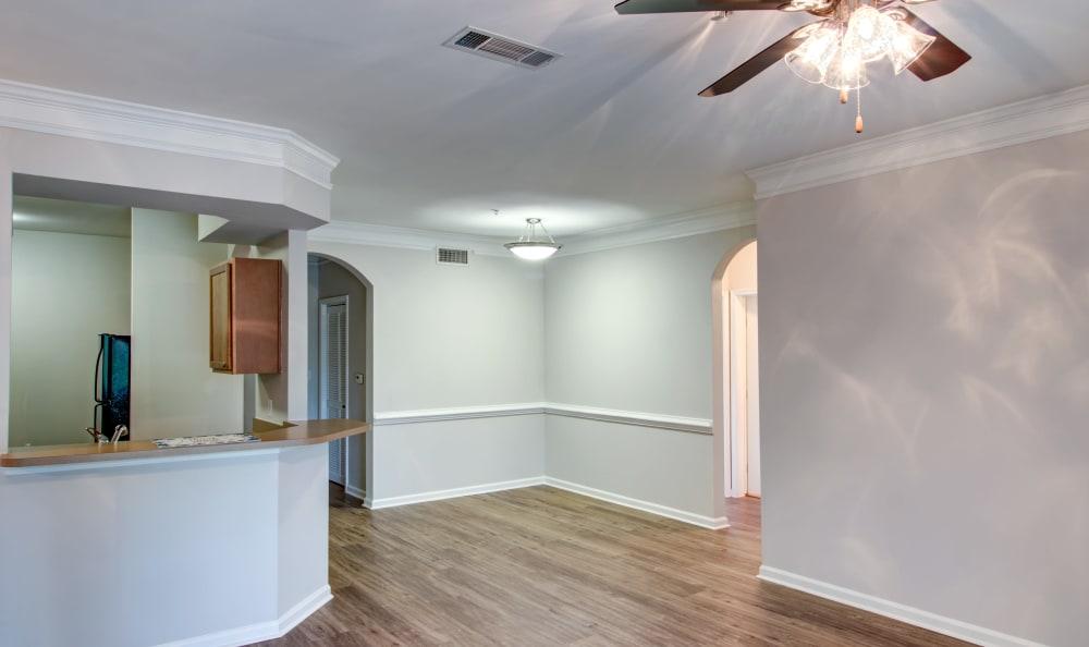 Open-floor plan with breakfast bar at IMT Kingwood in Kingwood, Texas