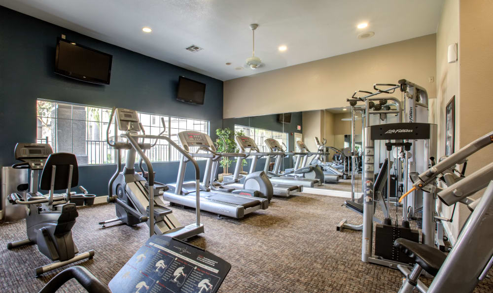 Well-equipped fitness center at Sierra Canyon in Glendale, Arizona