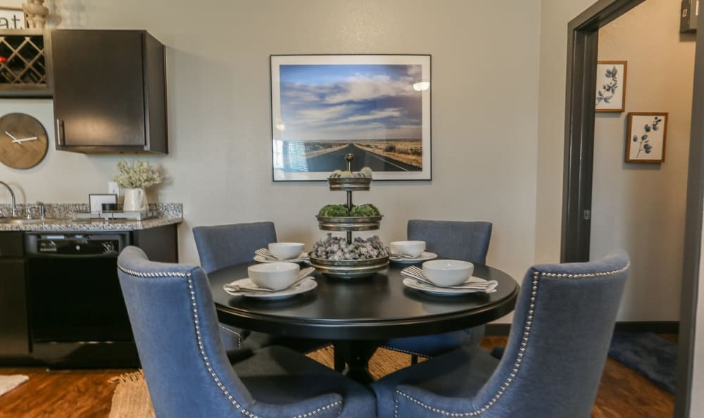 Dining Room Space at Springs at Cottonwood Creek Apartments In Waco