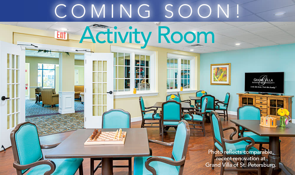 Activity room example at Grand Villa of Clearwater in Clearwater, Florida
