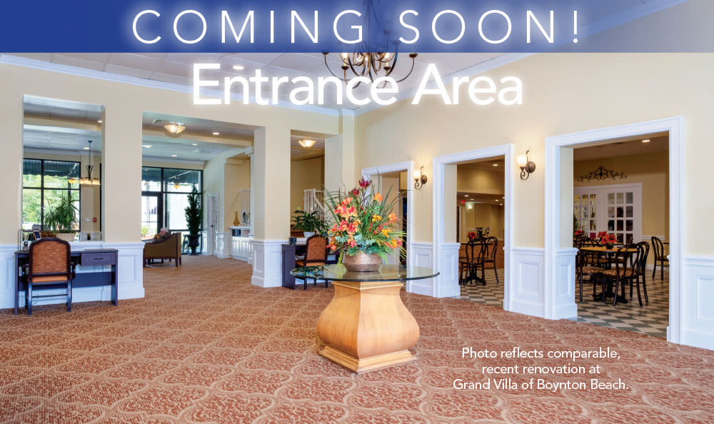 Entrance area at Grand Villa of Clearwater in Clearwater, Florida