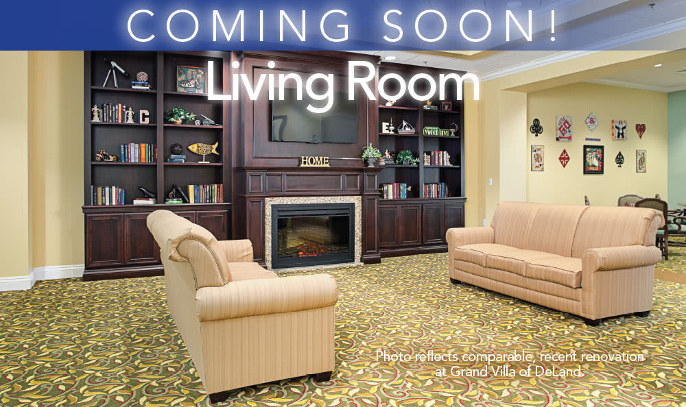 Living room area at Grand Villa of Clearwater in Clearwater, Florida