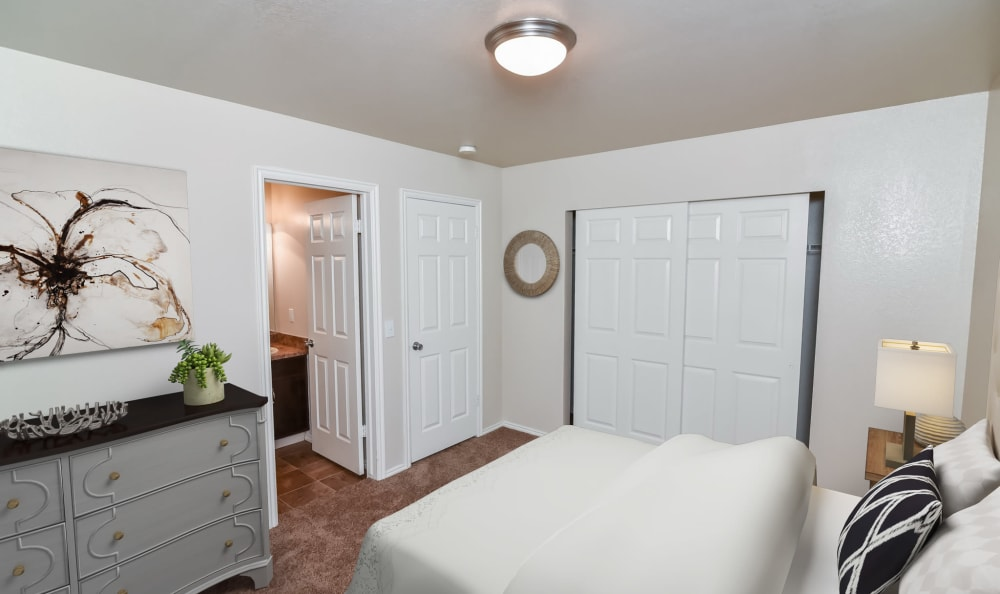 Bedroom at Cherry Lane Apartment Homes in Bountiful