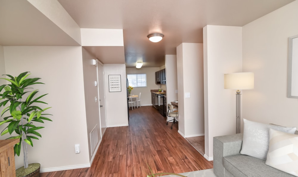 Open Layout floor plans at Cherry Lane Apartment Homes in Bountiful
