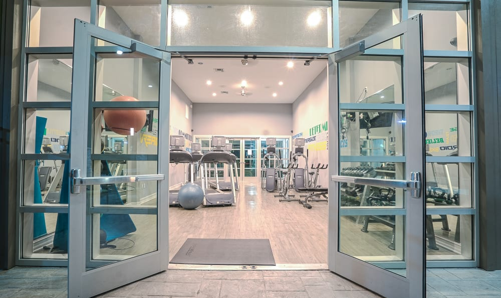 Fitness center entrance at Sage Corpus Christi in Corpus Christi, Texas