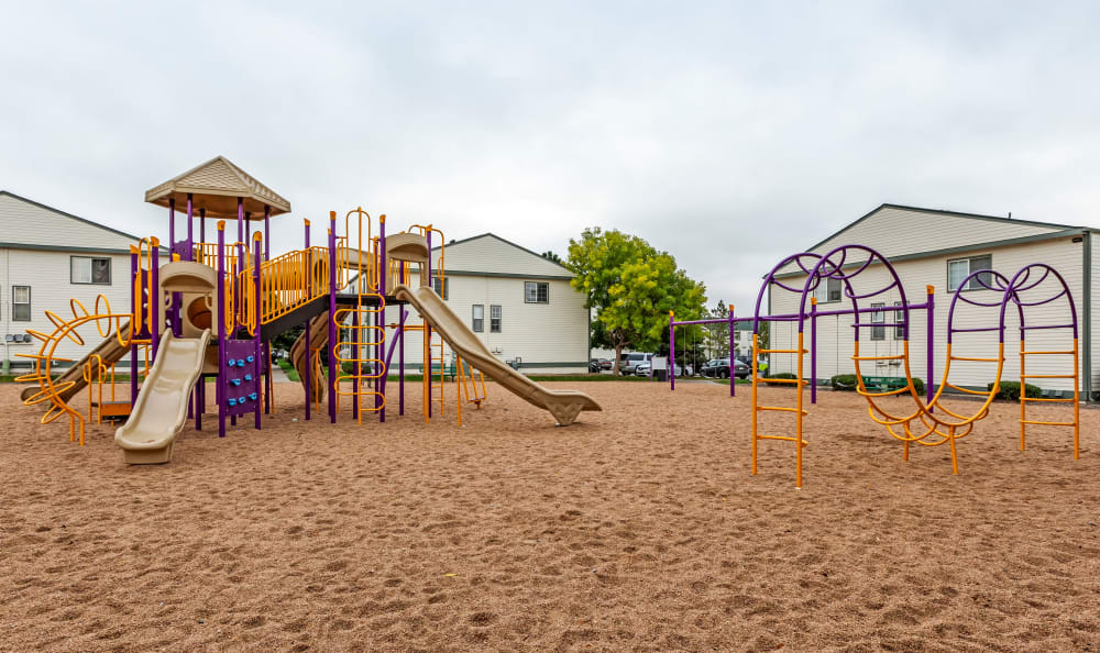 Onsite playground at Stratus Townhomes in Westminster, Colorado