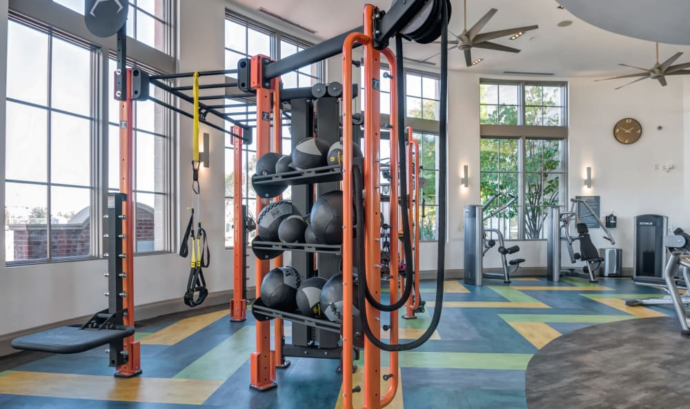 Fitness center with personal stations at Harbor Pointe in Bayonne, New Jersey