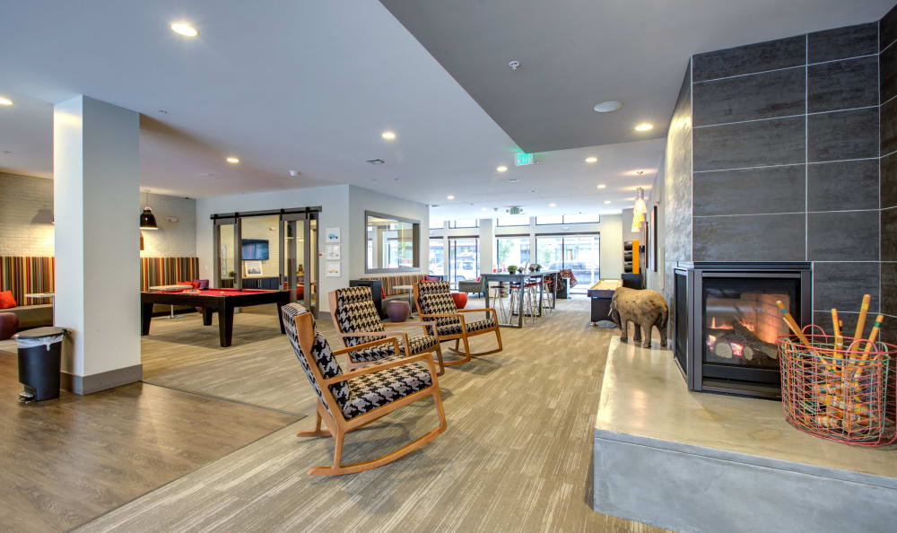 Beautifully decorated resident clubhouse interior at Regatta Sloan's Lake in Denver, Colorado