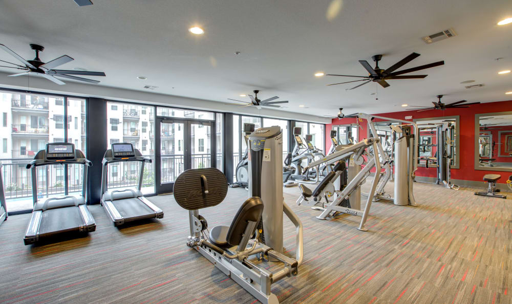 Well-equipped fitness center at Regatta Sloan's Lake in Denver, Colorado