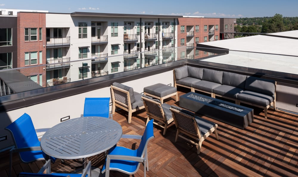 Rooftop lounge at Regatta Sloan's Lake in Denver, Colorado