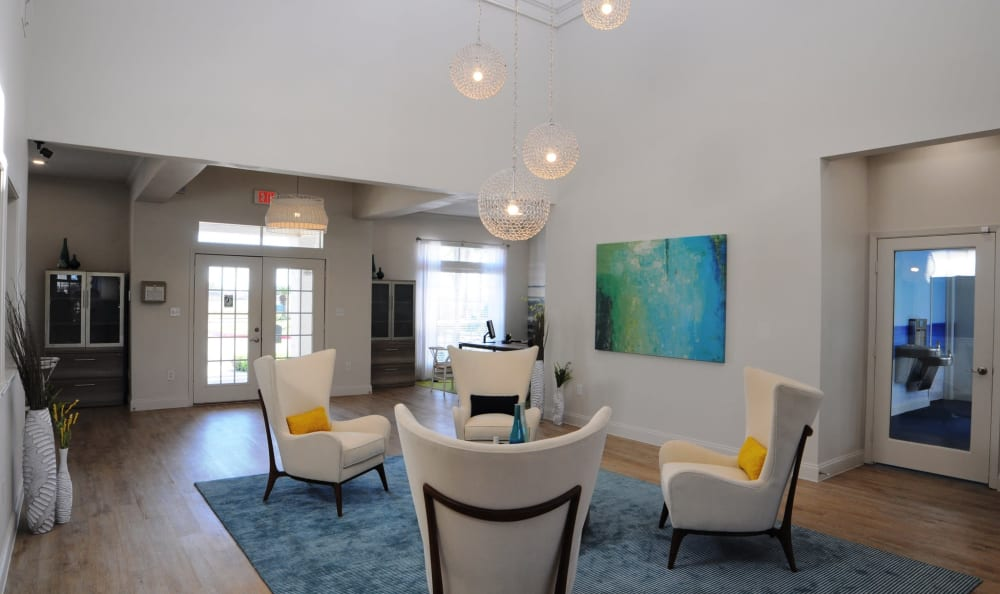 Spacious clubhouse at Azure Apartments in Corpus Christi, Texas