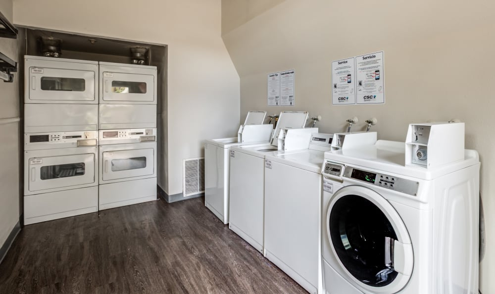 Onsite laundry facility at The Ranch at Bear Creek Apartments & Townhomes in Lakewood, Colorado