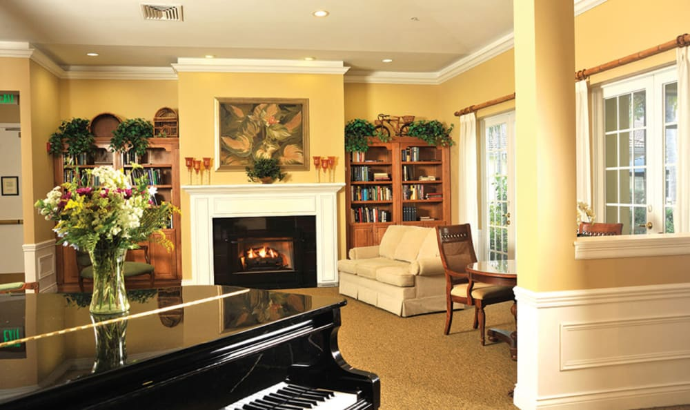 Grand piano at Tequesta Terrace in Tequesta, Florida